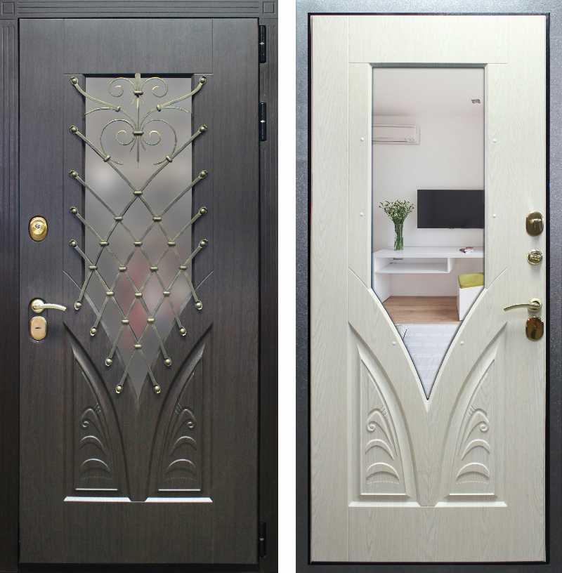 стальная дверь с ковкой азия
